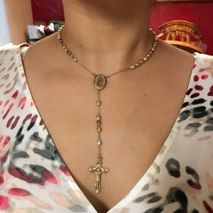Jewelry - 18k Gold Plated Rosary (Won't Tarnish)